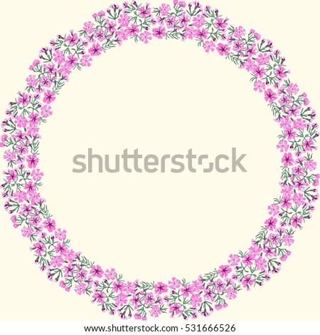 floral round frames of maiden