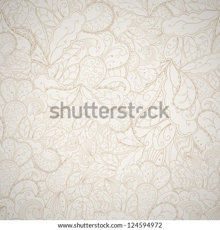 Floral seamless abstract hand-drawn card. Vector eps10 background.