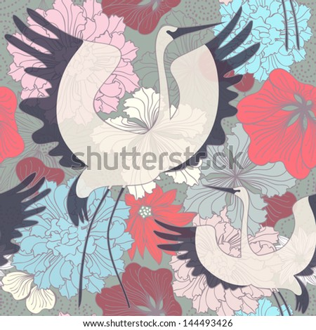 floral seamless background with