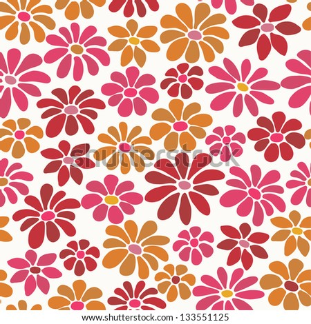 Floral seamless bright texture. Endless decorative texture with blooming flowers. Template for design fabric, backgrounds, covers, wrapping paper, package