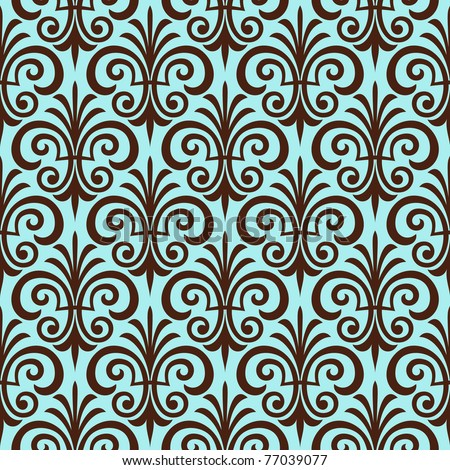 Floral seamless ornamental pattern. Vector background.