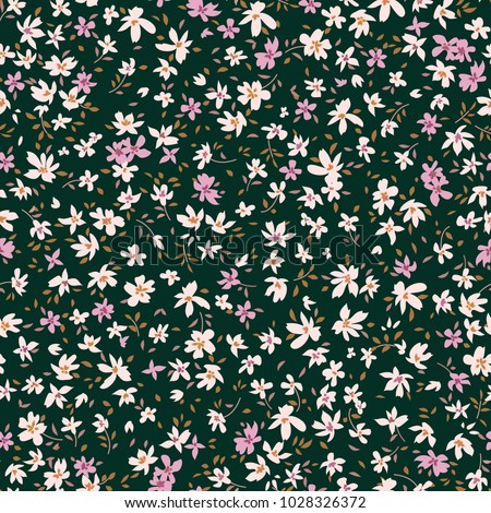Floral seamless pattern. Abstract ornamental flowers.  Flower background.
