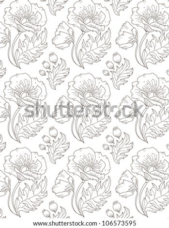 floral seamless pattern background illustration vector eps 10 - stock vector