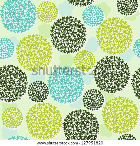 Floral seamless pattern. Endless romantic texture with stylized bunches of flowers. Template for design and decoration