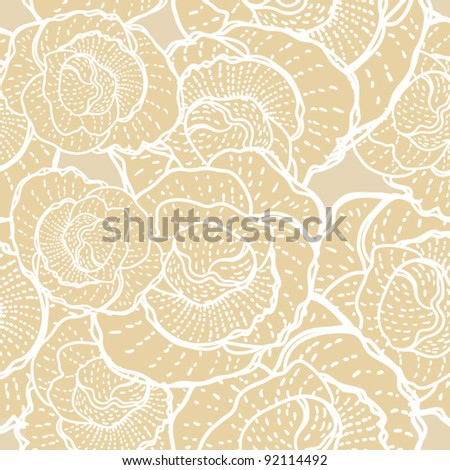 Floral seamless pattern, endless texture with flowers. Vector background for textile design in vintage style. Wallpaper, background.
