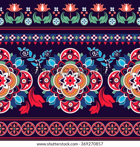 floral seamless pattern ethnic