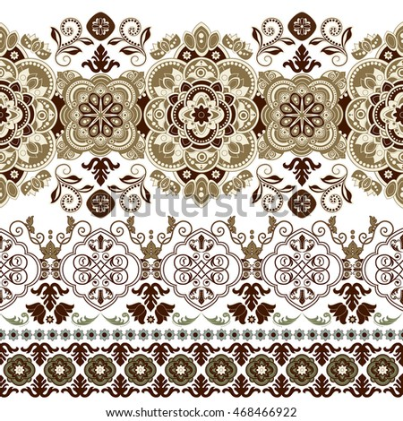 Floral seamless pattern. Ethnic border ornament