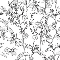Floral seamless pattern. Flower background. Floral seamless texture with flowers.
