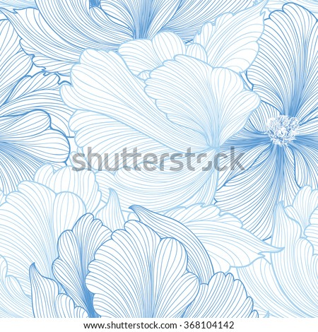 floral seamless pattern flower