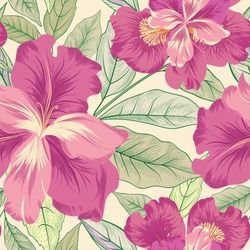 Floral seamless pattern.  Flower iris background. Flourish garden texture with flowers and leaves. Flourish nature textured wallpaper
