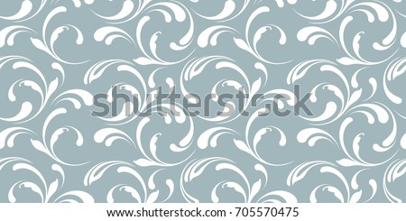 floral seamless pattern frosty