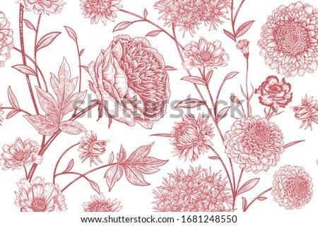 floral seamless pattern garden