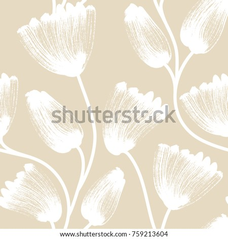 floral seamless pattern hand