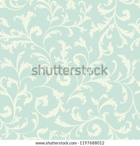 Floral seamless pattern.  Leaves background.  Flourish nature garden textured background