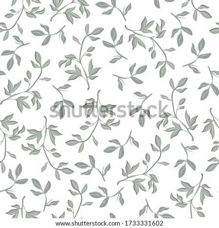 floral seamless pattern leaves