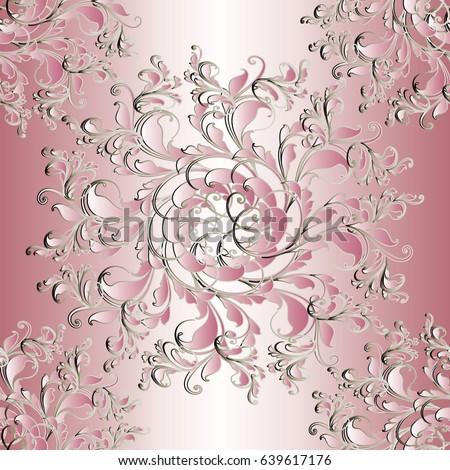 floral  seamless pattern light