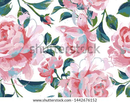 floral seamless pattern made of