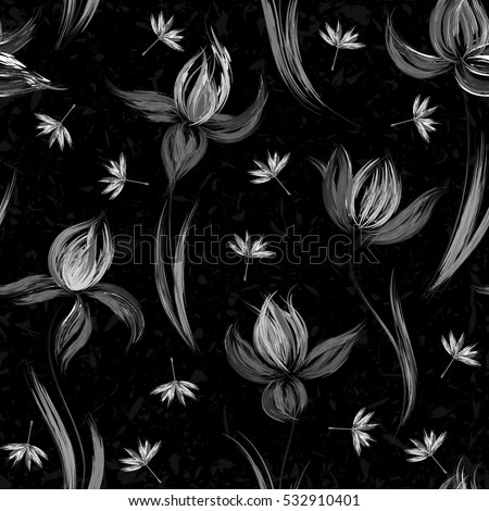 floral seamless pattern of