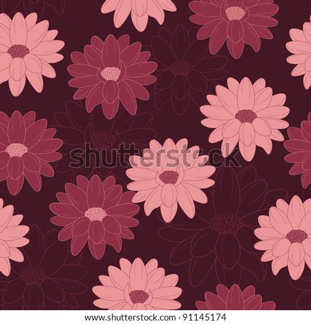 floral seamless pattern on a dark background