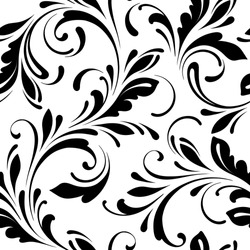 Floral seamless pattern. Swirls background for wrapping, fabric, paper and wallpaper.