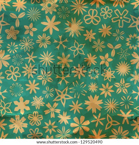 Floral seamless pattern. Vector illustration. - stock vector