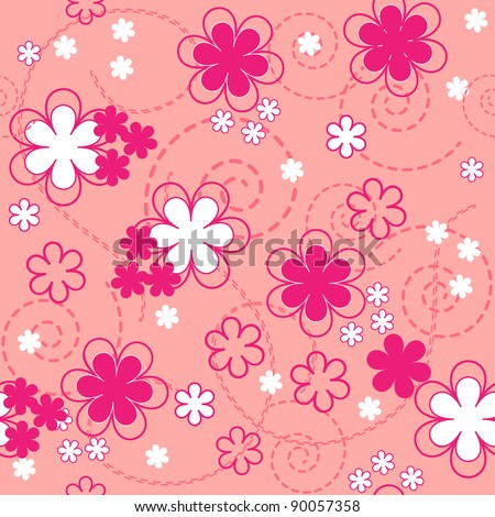 floral seamless pattern. vector texture and background. spring and summer illustration