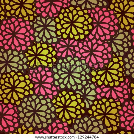 Floral seamless rose pattern. Endless texture with flowers. Template for design and decoration greeting cards, covers, textile, wrapping paper