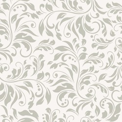 Floral seamless vector pattern. An abstract design of flower and leaves