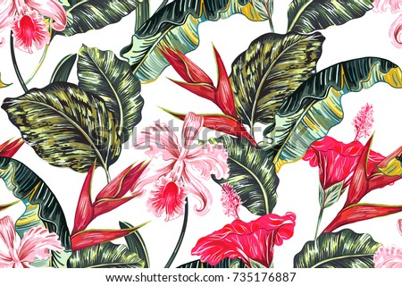 floral seamless vector tropical