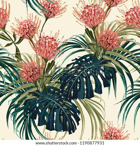 floral seamless vector tropical