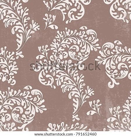 Floral seamless vintage pattern #791652460