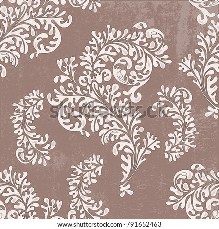 Floral seamless vintage pattern #791652463