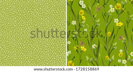 floral set of patterns with