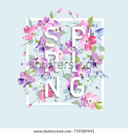 floral spring graphic design