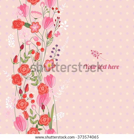 floral spring template with