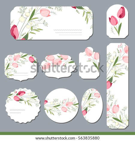 floral spring templates with