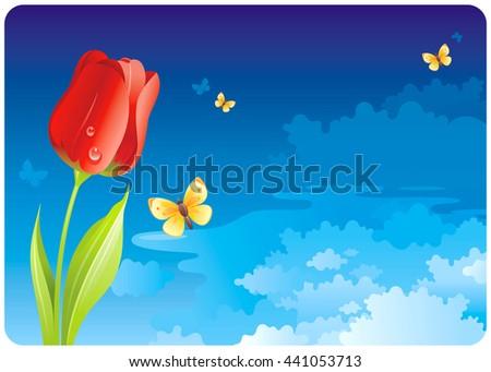 floral summer or spring