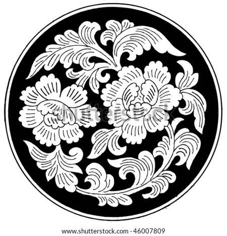 Floral tattoo vector. abstract