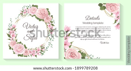floral template for wedding