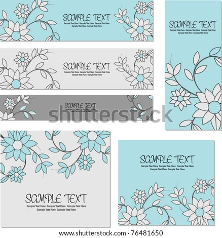 stock vector floral templates for wedding or business use