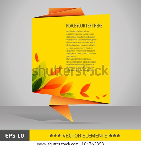 floral text tag yellow background