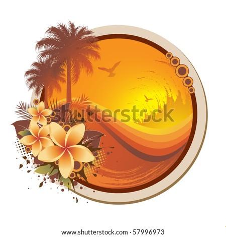 floral tropical frame