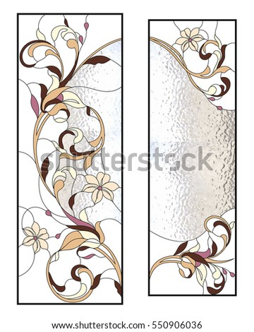 floral two frame stained glass