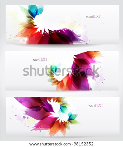 Floral vector background brochure template.