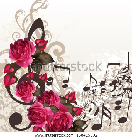 floral vector background with