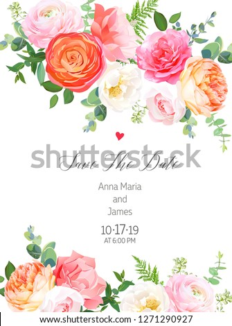 floral vector design vertical