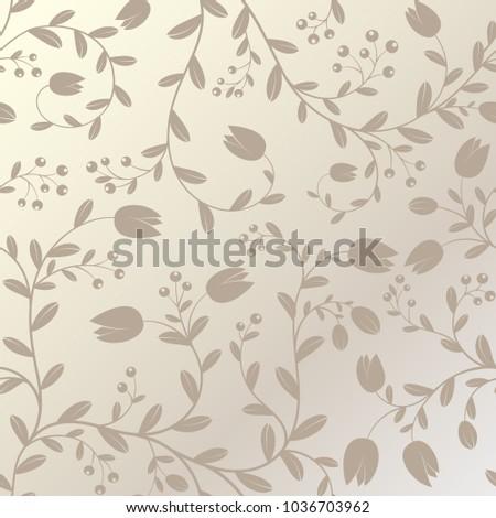 floral vector pattern hand drawn endless background elegant