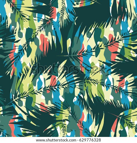 floral vector pattern tropical