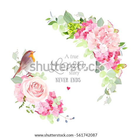 floral vector round frame with