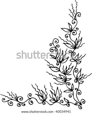 floral vignette eau forte 312